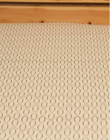 Dotted Sphere Printed White Bed Sheet