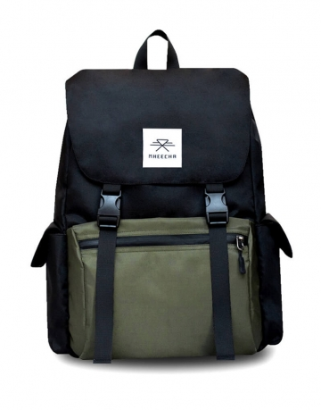 Boulder Black/ Green Backpack