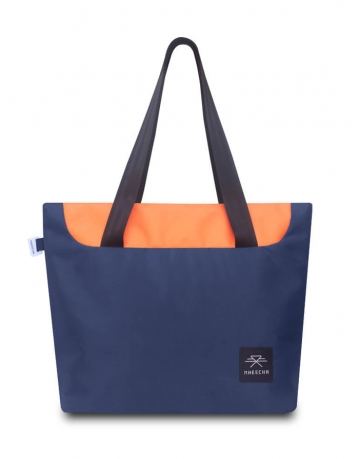 Meander Tote Navy Blue/ Orange Bag